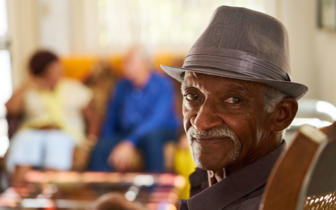 Black Senior In Assisted Living Community