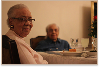 Black Seniors At Dinner